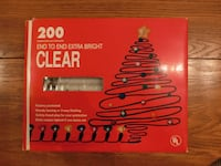 Clear string lights - NEW in Box Elkridge