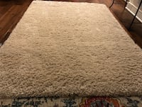 """Excellent quality - beige new area rug - just did not work (size) in room. pet-free home. 5.3"""" x 7.5"""" 3 km"""