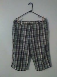 gray and black plaid shorts Mitchell, 47446