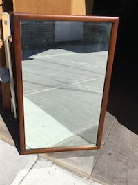 """REDUCED!! Wood framed mirror. Heavy... Approximately 3 1/2' x 22"""". In fantastic condition. New York, 11229"""