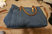 blue and brown leather handbag Odenton, 21113