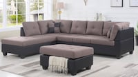 Brand new sectional sofa with ottoman Toronto, M9W 3W6