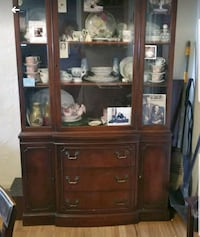 brown wooden china cabinet with cabinet Beaverton, 97005