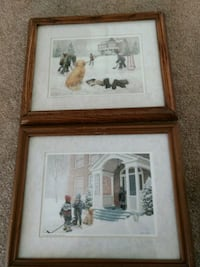 two brown wooden framed painting of house London, N6K 3H7