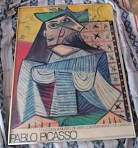 Large Framed Picasso Exhibition Poster