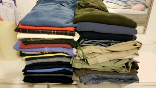 Men clothles 20 pieces of shirts size xxl, 5 short
