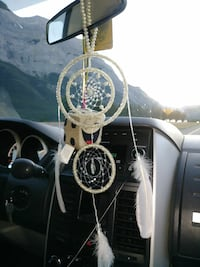 white beaded dreamcatcher Calgary