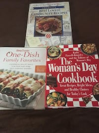 3 large cookbooks Midland, 79703