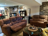 Brown suede recliners Laval, H7W