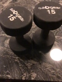 Pair of 15lb dumbbells sagear Mc Lean, 22102