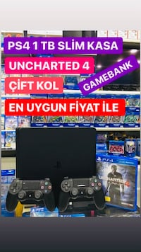 Ps4 SONY 1 TB SİLİM ÇİFT KOL +UNCHARTED4