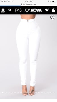 White skinny high waist jeans fashionnova Burnaby