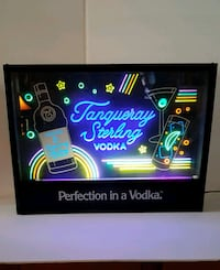 Vintage Tanqueray Sterling Vodka Blacklight Sign Orange City, 32763