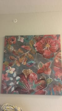 red, yellow, and green flower painting Hollister, 65672
