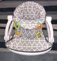 Fisher-Price Sit Me Up Floor Seat (Silver Platter) 2393 mi