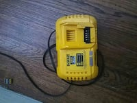 yellow Dewalt power tool battery charger