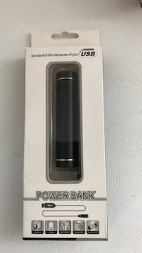 Black power bank good for either iphone or android. Ashburn, 20147