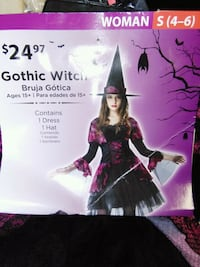 New Halloween costume. Gothic witch small 4-6. North Augusta, 29841