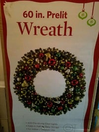 60 in Prelit Wreath Chesapeake