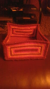 red crochet box