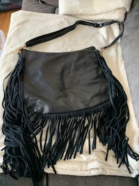 Black purse with fringe Langley, V3A 7T6