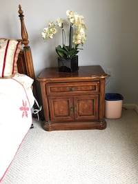 Solid wood side table/ cabinet with drawer. $75 for each. Gaithersburg, 20878