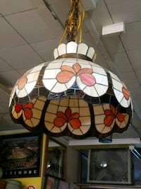 VINTAGE TIFFANY GLASS CEILING LAMP. Woodbridge Township, 08863