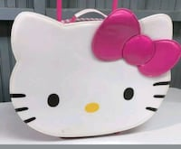 """Super rare 18"""" Hello Kitty face rolling luggage, carry-on. Almost new! Mount Airy"""