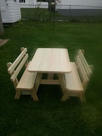 white and brown wooden picnic table Fall River, 02724