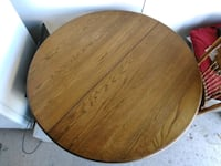Round table with 3 chairs. Beautiful wood! 2177 mi