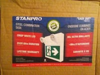 """STANPRO """"RUNNING MAN """" EXIT SIGN Mississauga, L5A 2H6"""