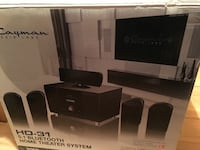 black Cayman HD-31 5.1 bluetooth home theater system box Whitby, L1R 3N1
