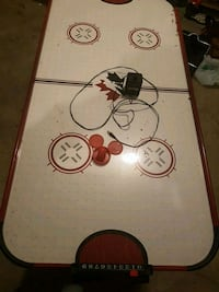 white, red, and black air hockey table London, N6G 4Z6