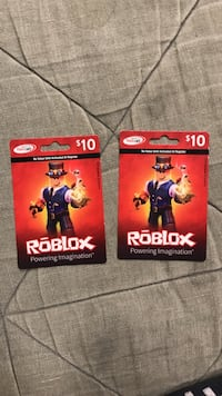 two ten dollars Roblox gift cards New York, 10011