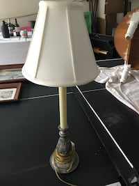 beige and black lamp base with empire white lampshade table lamp Painesville, 44077