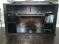 TV stand with built-in electric fireplace