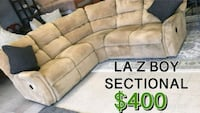 brown suede sectional couch with throw pillows Norfolk, 23518