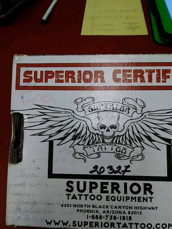 Used Superior Certificate Tattoo Equipment Box For Sale In San