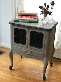 Updated Vintage French Provencial side table with drawer