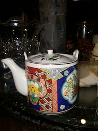 white blue and yellow ceramic tea pot Rockville, 20853