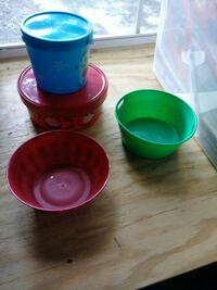 Plastic bowls and containers .50 each Salisbury