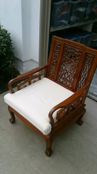 Chinese Custom Chair, Intricate Detail, Solid Wood Escondido, 92025