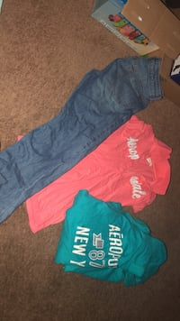 shirt xs..hoodie med. and pants size 14 ... 5.00 each
