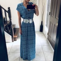 Long Blue cotton dress & belt size S London, N5V 5J4