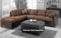 Coaster Mallory Casual Sectional Sofa, Chocolate 500655 Missouri City