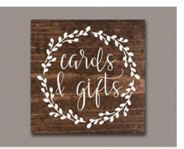 Cards & gifts sign/ wedding and event sign. 80953a04-71c7-4cd7-838e-e6e44d6ce41f