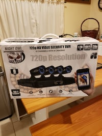 Night Owl Security system with DVR and 4 cameras.   Stockton