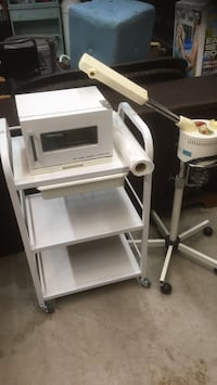 Esthetician's trolly, facial steamer, and hot towel cabinet and sterilizer Whitby, L1N 1W5