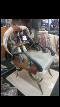 Texas Longhorn chair with cowhide seat Albuquerque