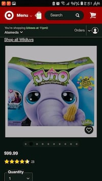 Juno interactive toy elephant Stockton, 95207
